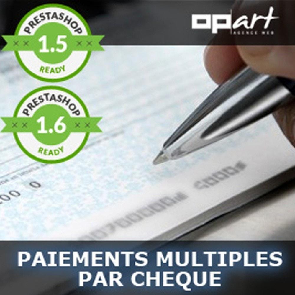 module - Autres moyens de paiement - Paiment multiple par chèque - 1