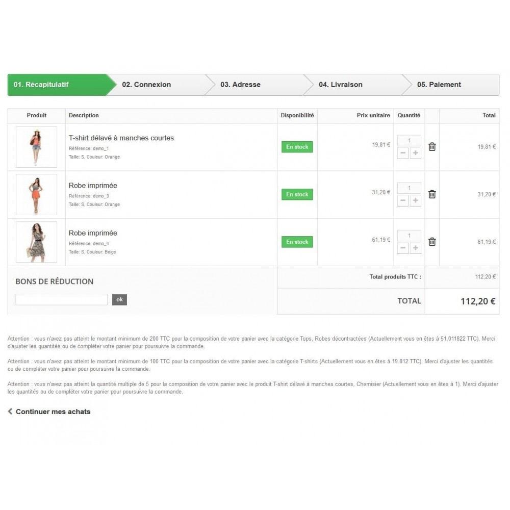 module - Inscription & Processus de commande - Règle de quantité et prix par groupe (min max multiple) - 5