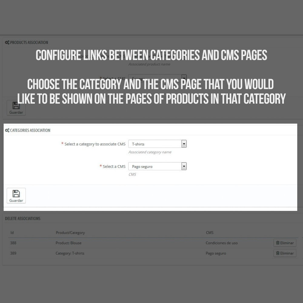 module - Bijkomende Informatie - Information pages (CMS) in Product Tab - 4