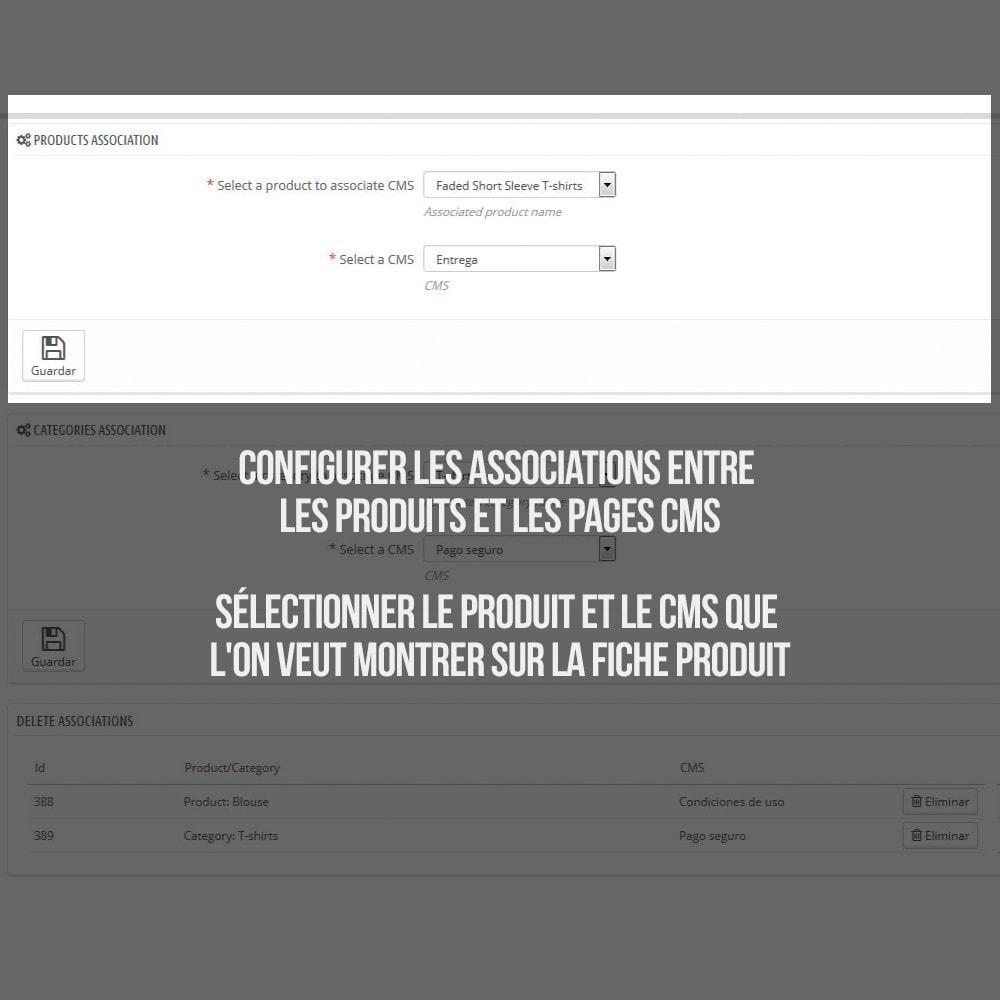 module - Information supplémentaire & Onglet produit - Pages CMS en onglets dans les fiches de produit - 3