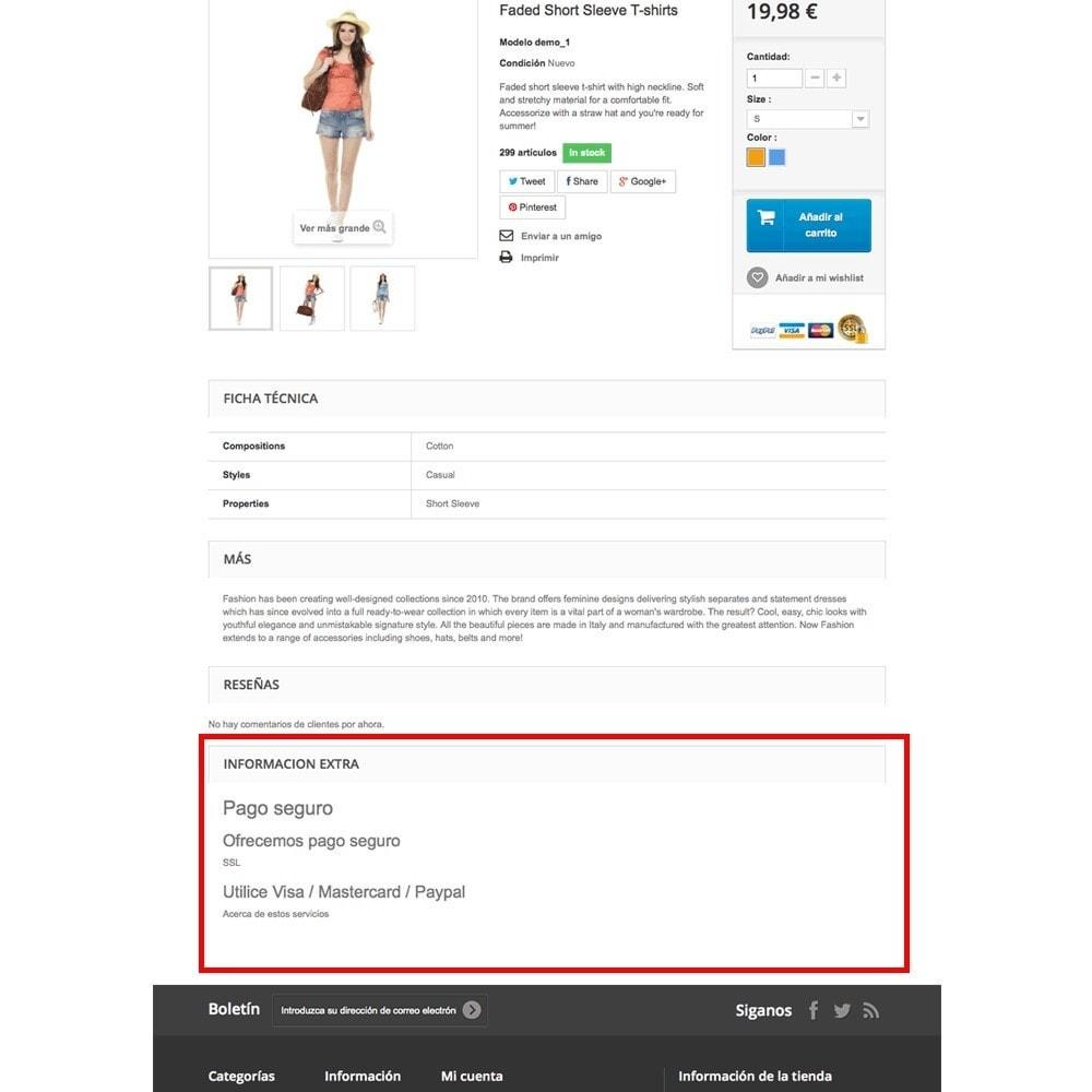 module - Altre informazioni & Product Tab - Pagine CMS nelle schede prodotto - 6