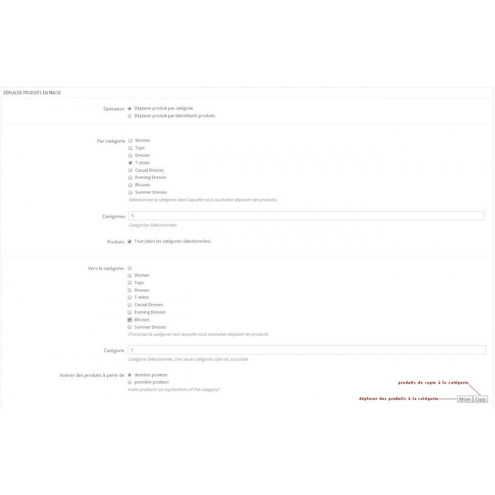 module - Edition rapide & Edition de masse - Déplacement en masse de Produits parmi les Catégories - 1