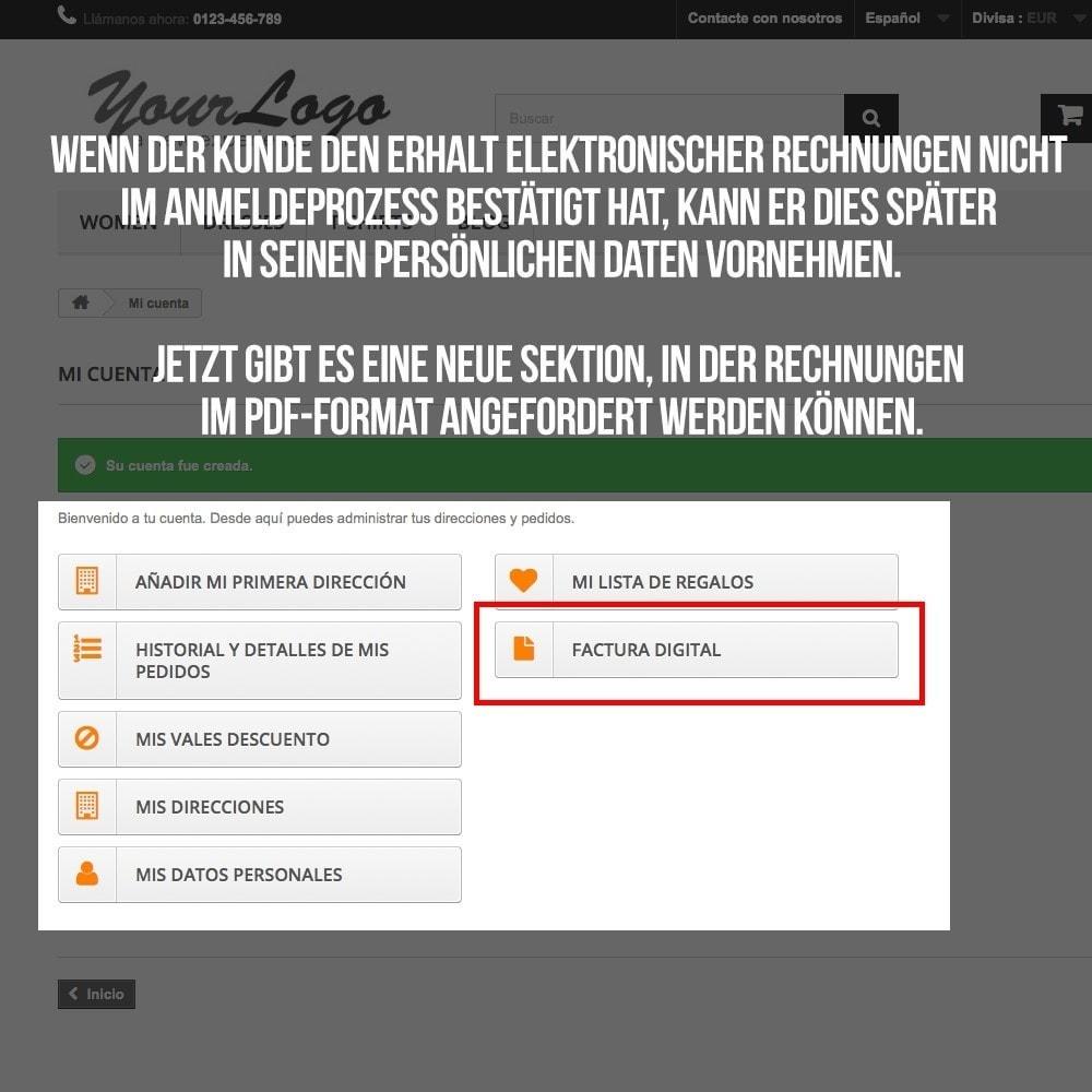 module - Buchhaltung & Rechnung - Elektronische Rechnung (gesetzlichen Vorgaben) - 7