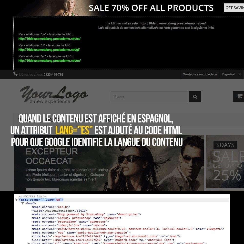 module - International & Localisation - Info pour Google des langues de votre boutique - 4