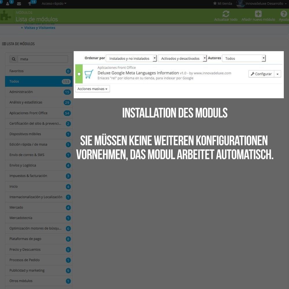 module - Internationalisierung & Lokalisierung - Information für Google für Ihren Shop in Ihrer Sprache - 2