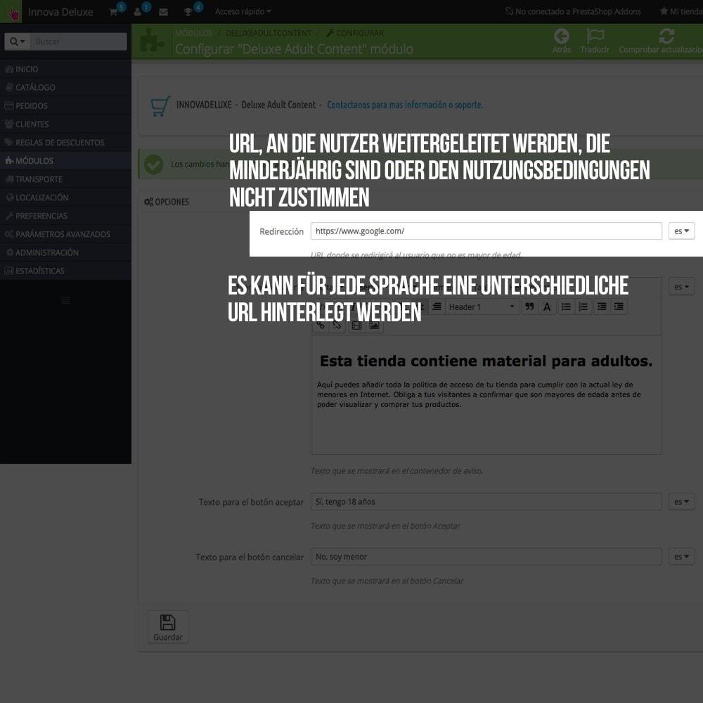 module - Sicherheit & Brechtigungen - Warnhinweis für jugendgefährdende Inhalte - 3
