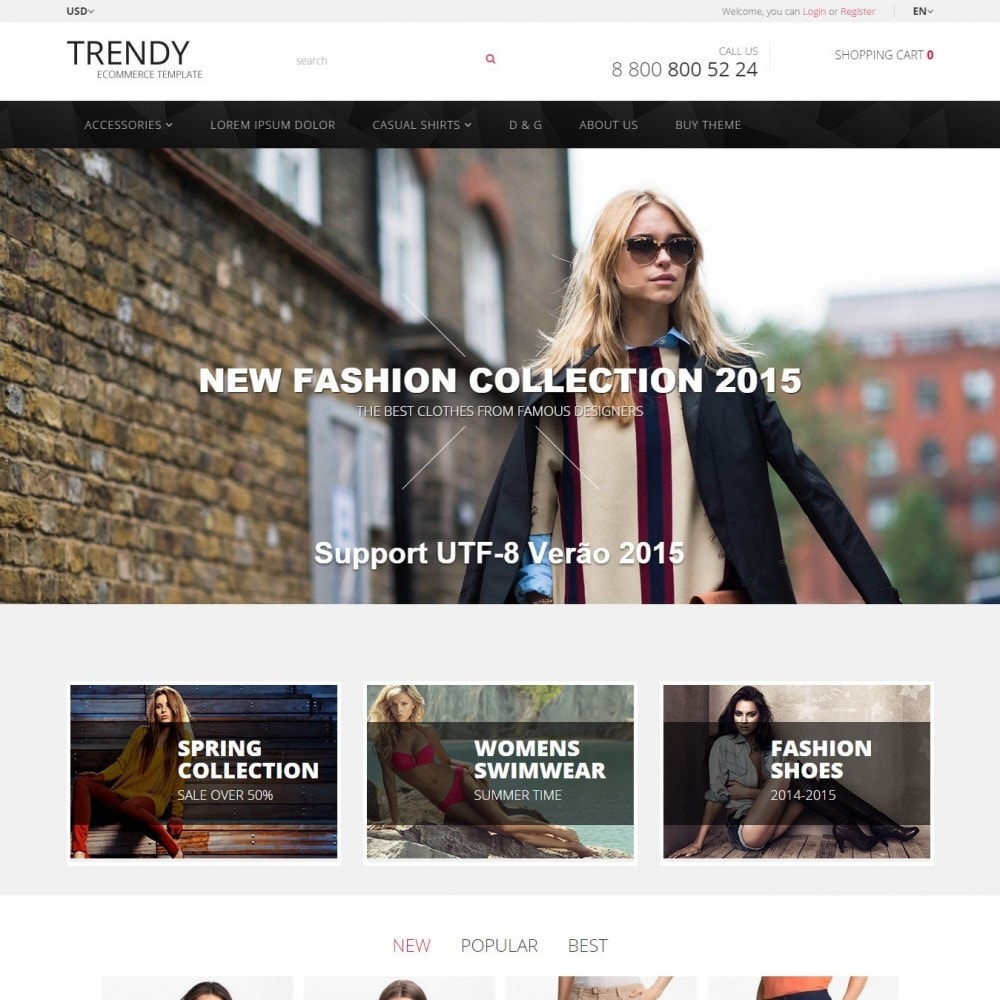 theme - Fashion & Shoes - Trendy - Fashion Store Clothes - 1