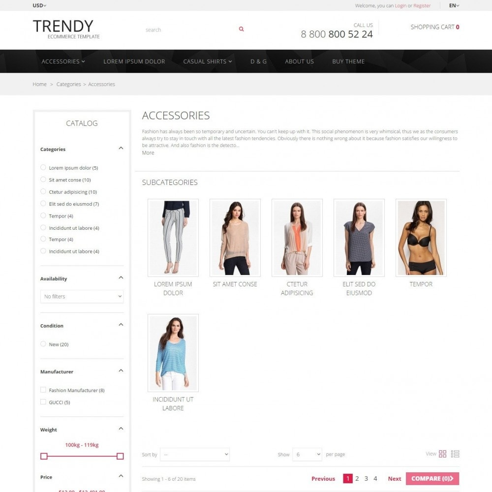 theme - Fashion & Shoes - Trendy - Fashion Store Clothes - 2