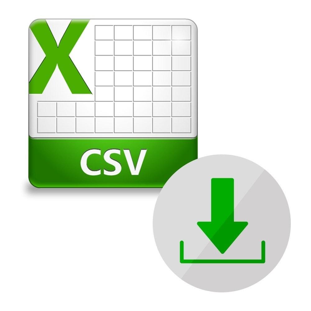 module - Importación y Exportación de datos - Exportación del catálogo en CSV - 1