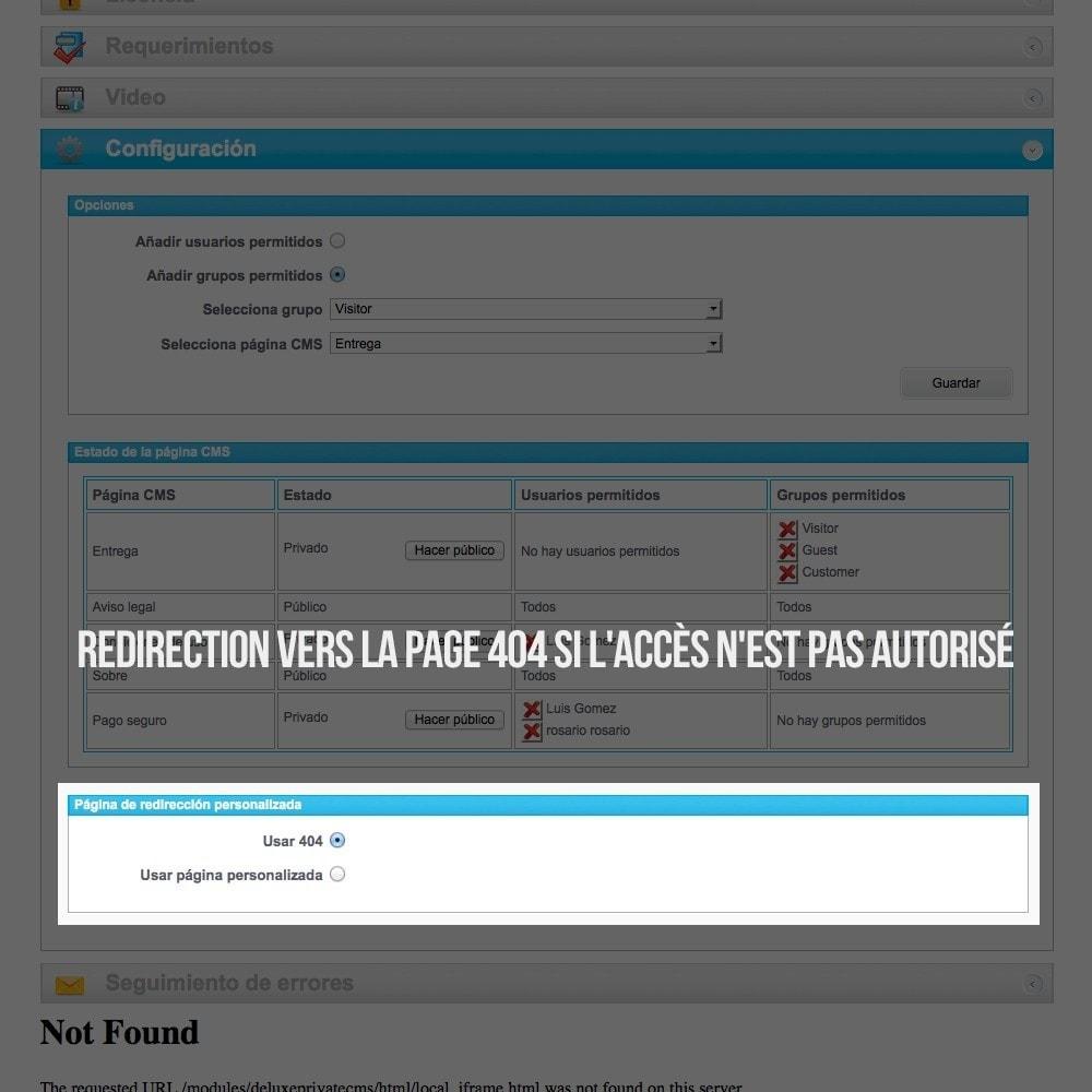 module - B2B - Pages privées CMS (Contenu privé) B2B - 5