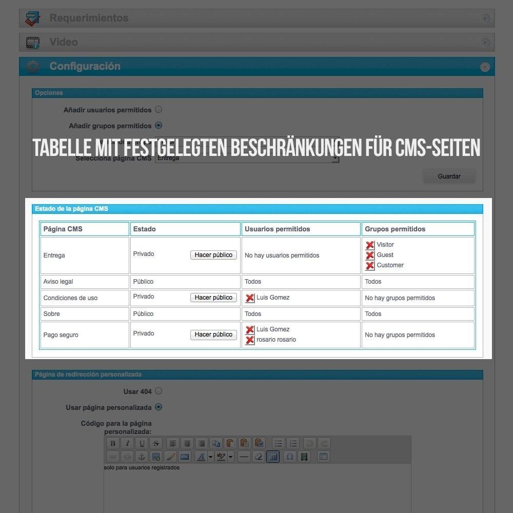 module - B2B - Private CMS-Seiten (Private Inhalte) B2B - 4