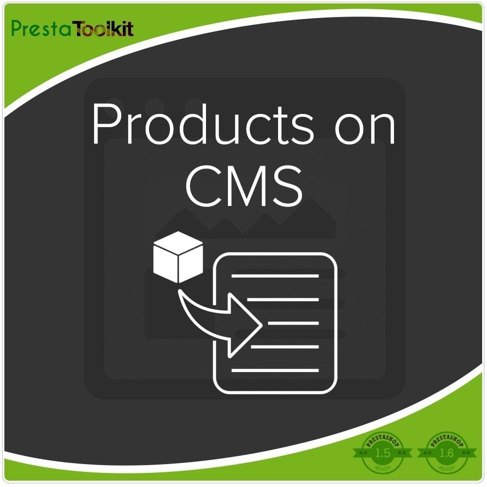 module - Gestão dos Produtos na Página Inicial - Products On CMS - 1