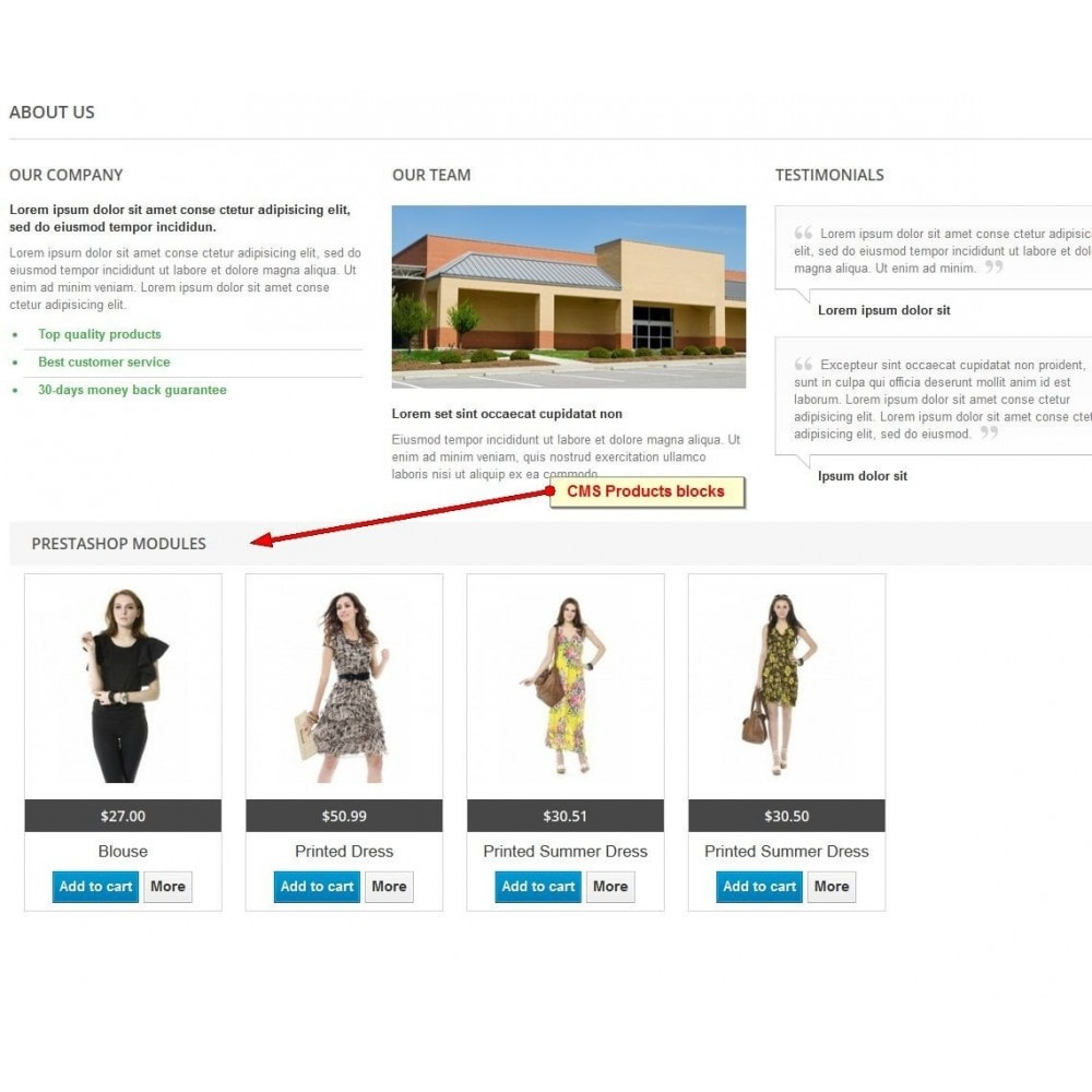 module - Products on Homepage - Products On CMS - 2