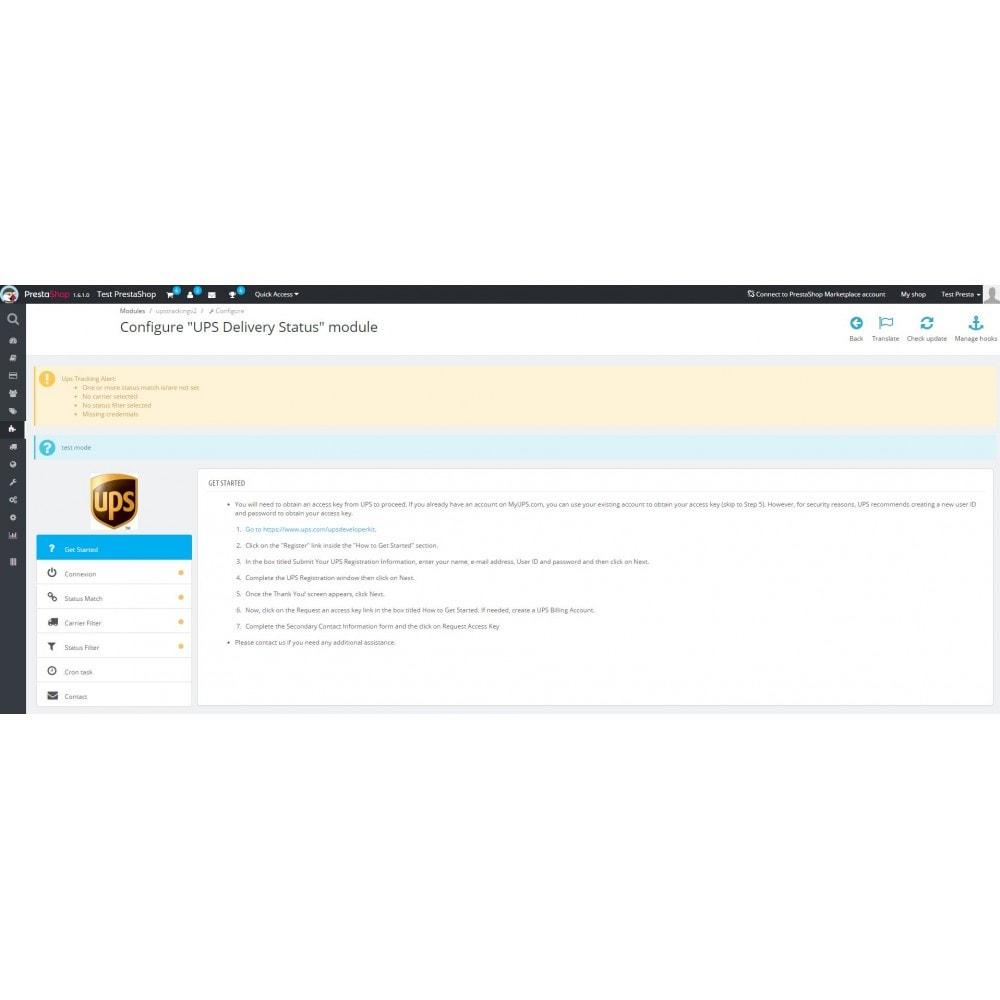 module - Śledzenie dostawy - UPS Delivery Status - 2