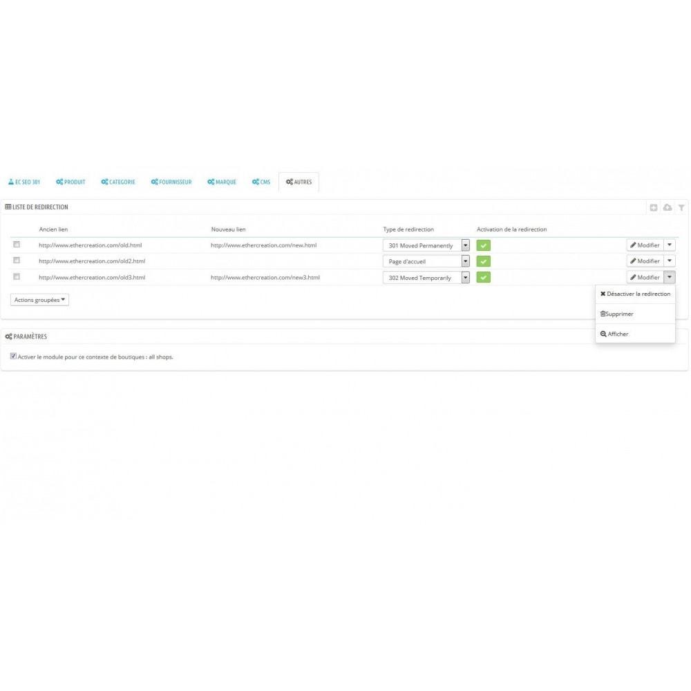 module - URL & Redirections - 301 Seo - redirection automatique de toutes vos 404 - 7