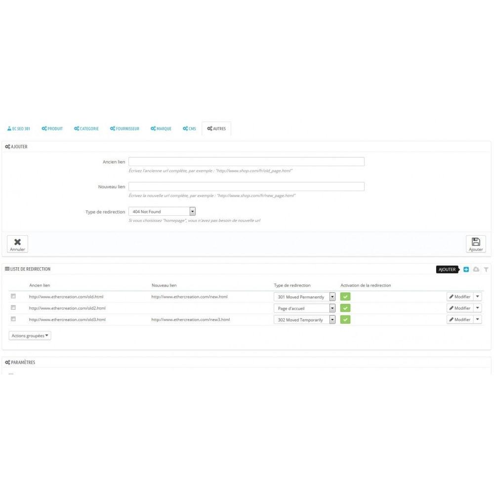 module - URL & Redirections - 301 Seo - redirection automatique de toutes vos 404 - 8