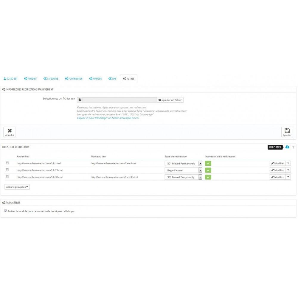 module - URL & Redirections - 301 Seo - redirection automatique de toutes vos 404 - 9
