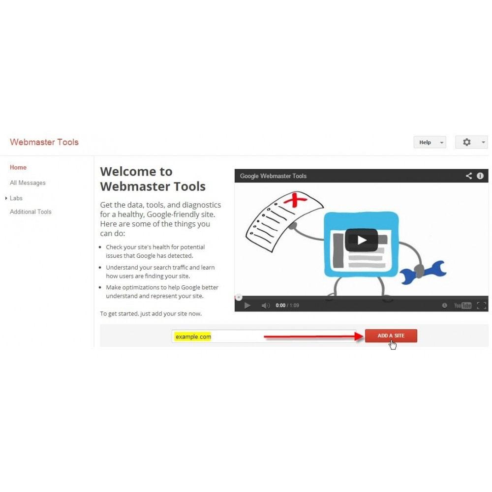 module - SEO (Indicizzazione naturale) - Webmaster Tools Site Verification - 4