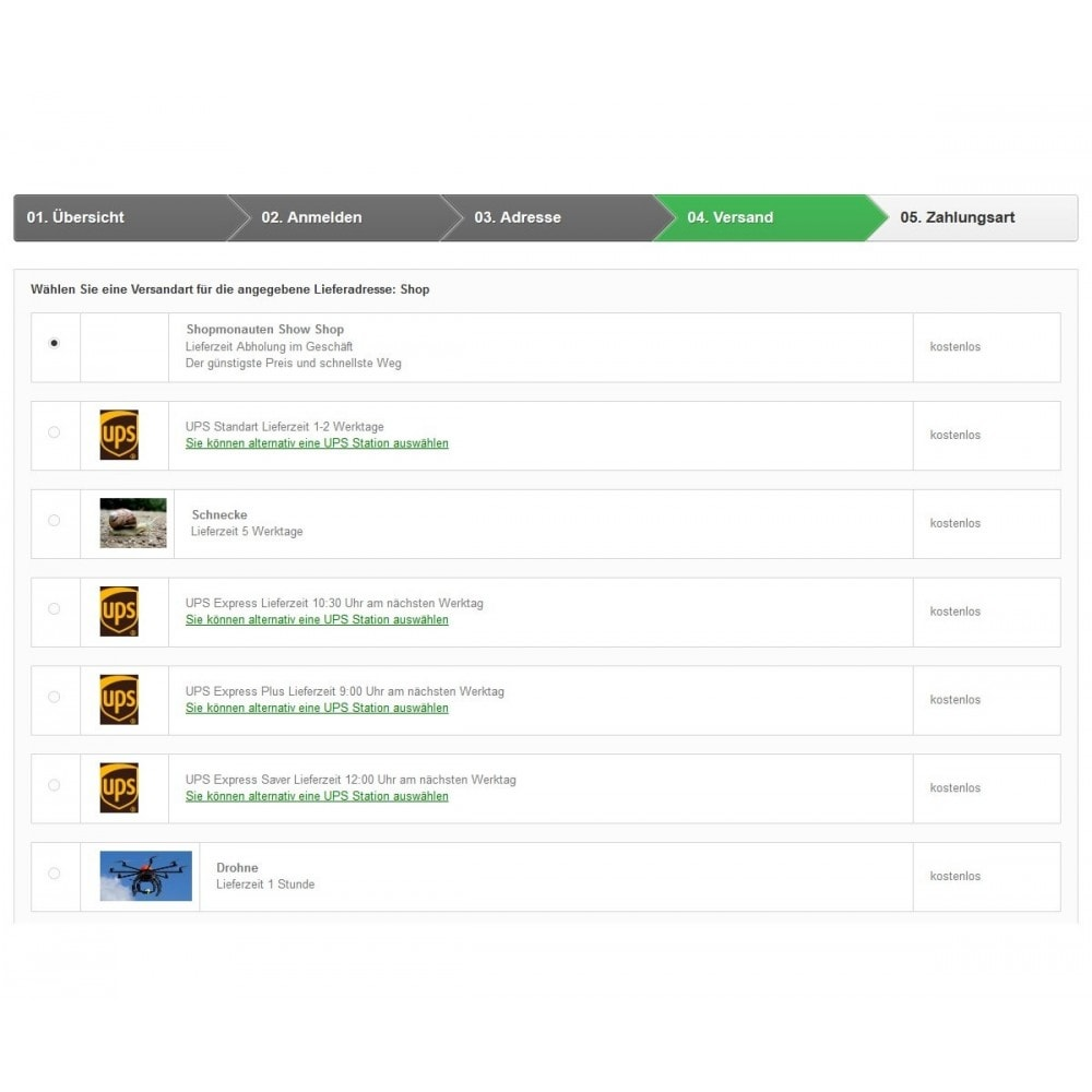 module - Abholstationen & Selbstabholer - UPS Store Locator - 2