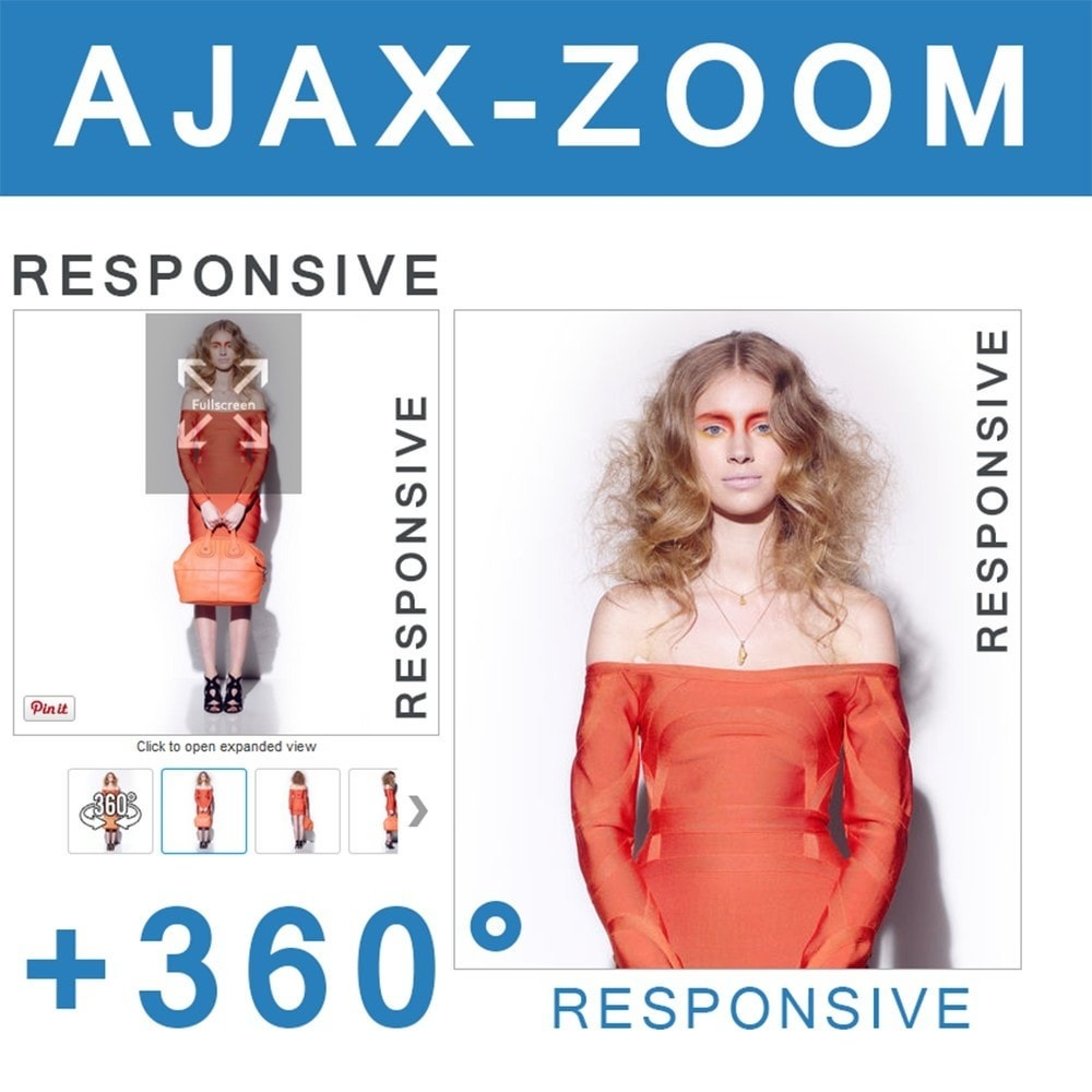 module - Показ товаров - AJAX-ZOOM: responsive product image zoom + 360° spin - 1