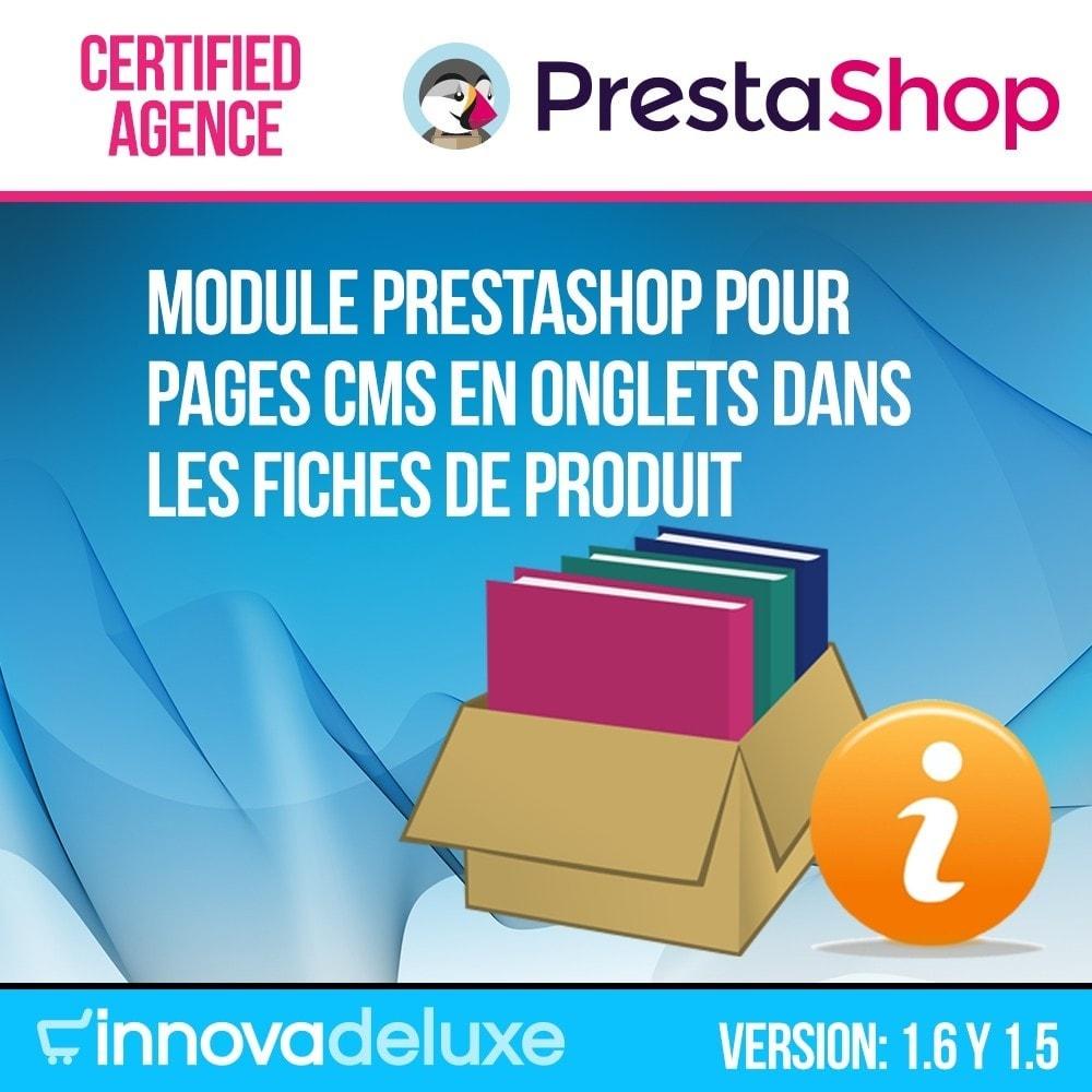 module - Information supplémentaire & Onglet produit - Pages CMS en onglets dans les fiches de produit - 1