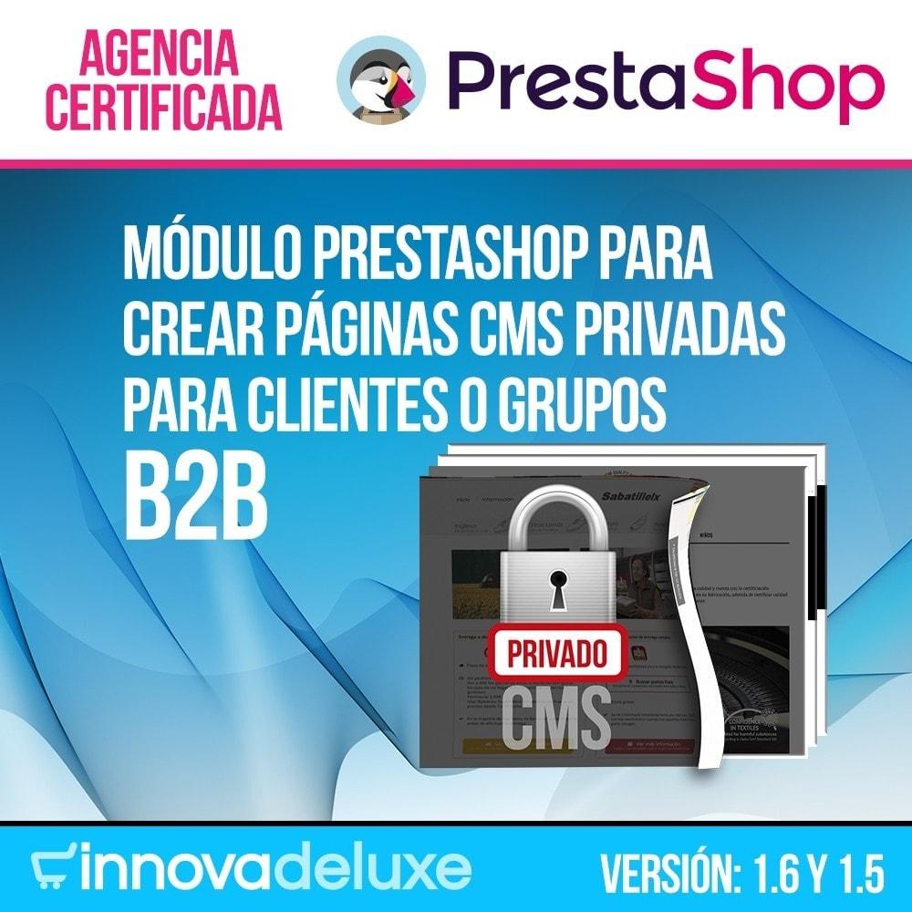 module - B2B - Páginas CMS privadas (Contenido Privado) B2B - 1