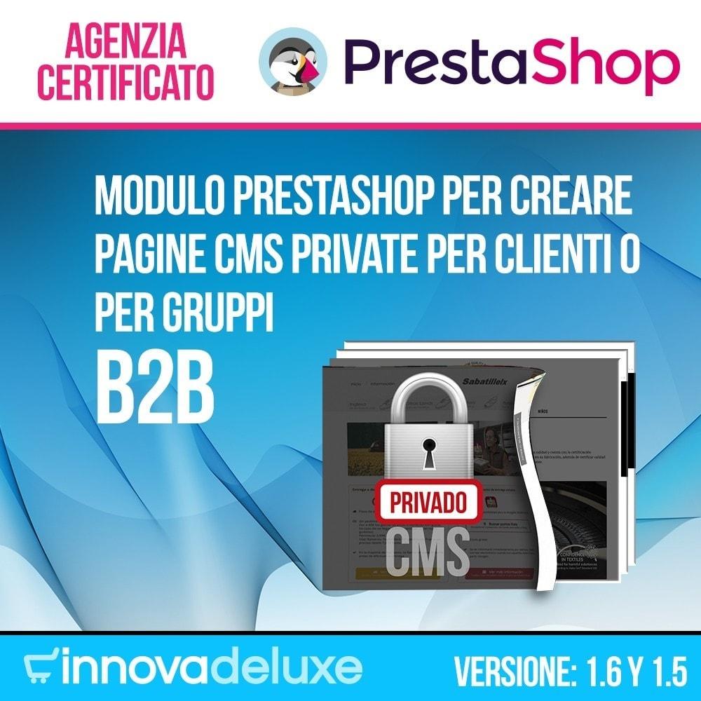 module - B2B - Pagine CMS private (Contenuto Privato) B2B - 1