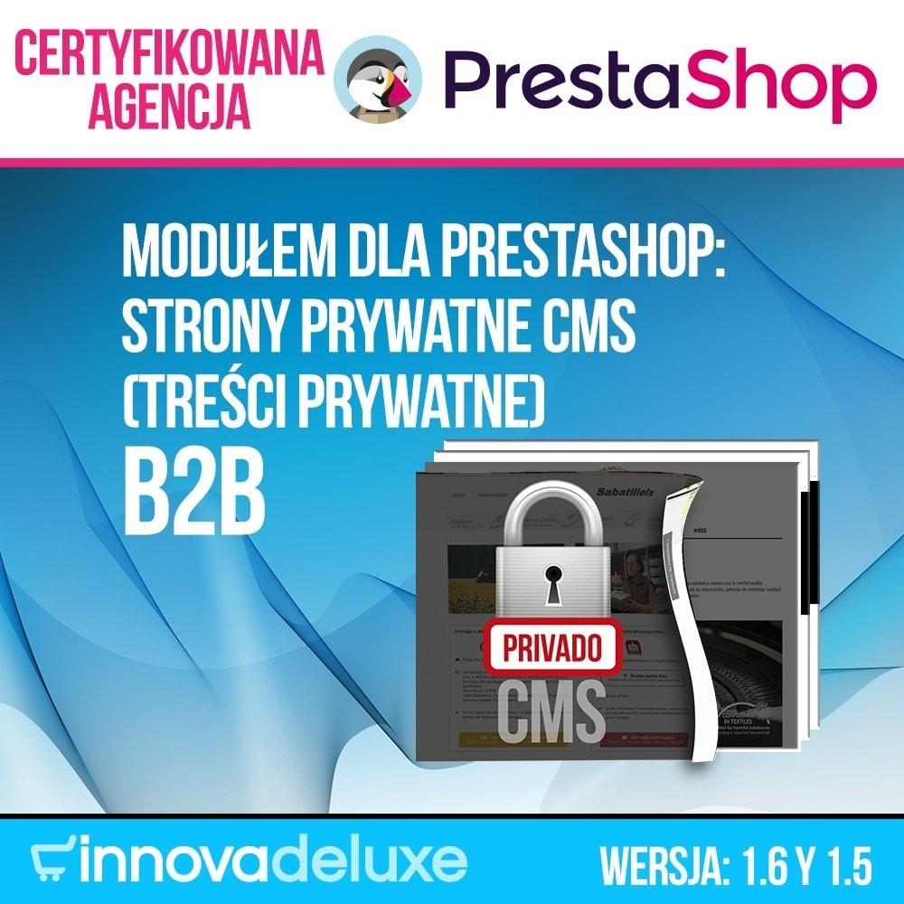 module - B2B - Strony prywatne CMS (treści prywatne) B2B - 1