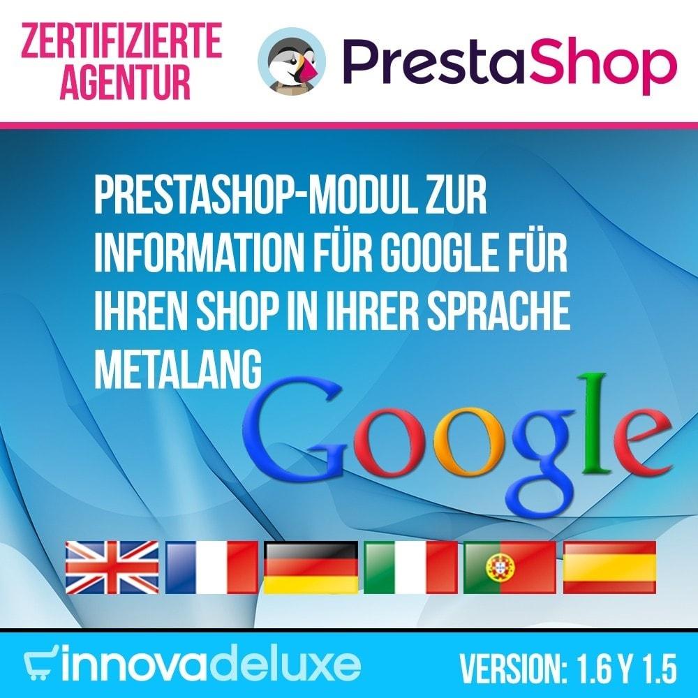 module - Internationalisierung & Lokalisierung - Information für Google für Ihren Shop in Ihrer Sprache - 1