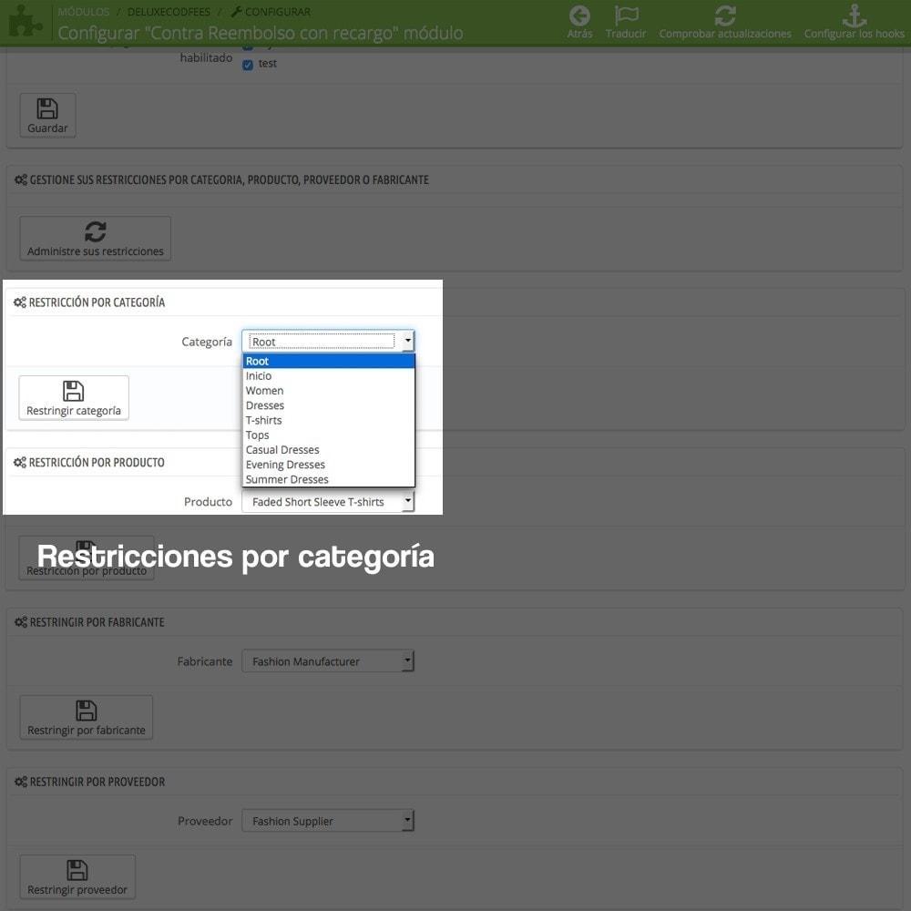 module - Pago a la Entrega (contrarrembolso) - Contra reembolso con recargo (rangos y restricciones) - 14