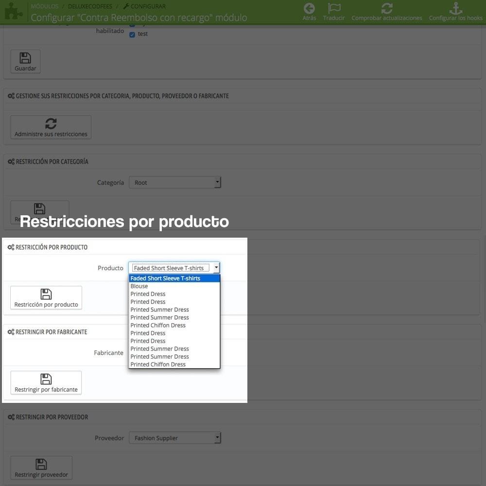 module - Pago a la Entrega (contrarrembolso) - Contra reembolso con recargo (rangos y restricciones) - 15
