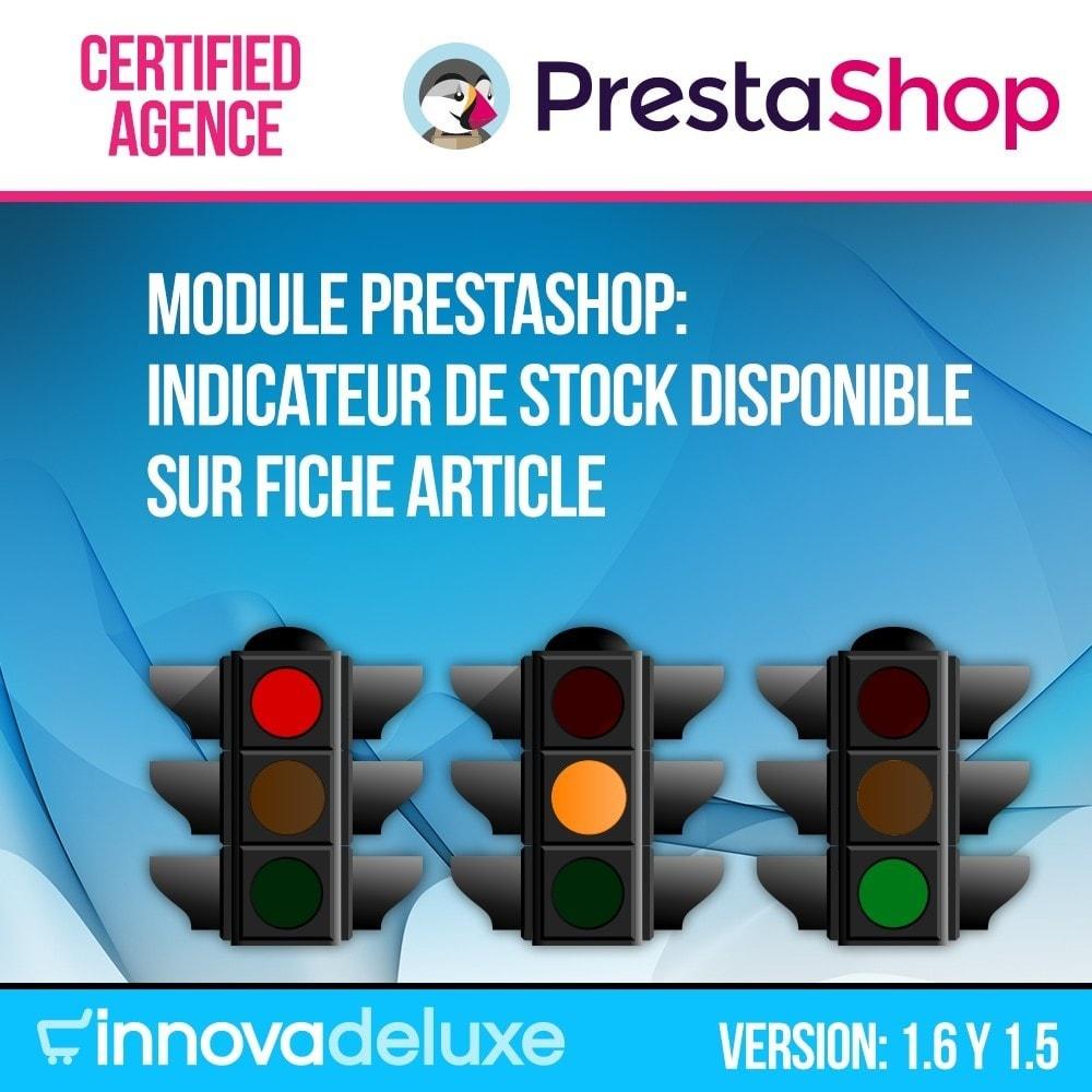 module - Information supplémentaire & Onglet produit - Indicateur de stock disponible sur fiche article - 1