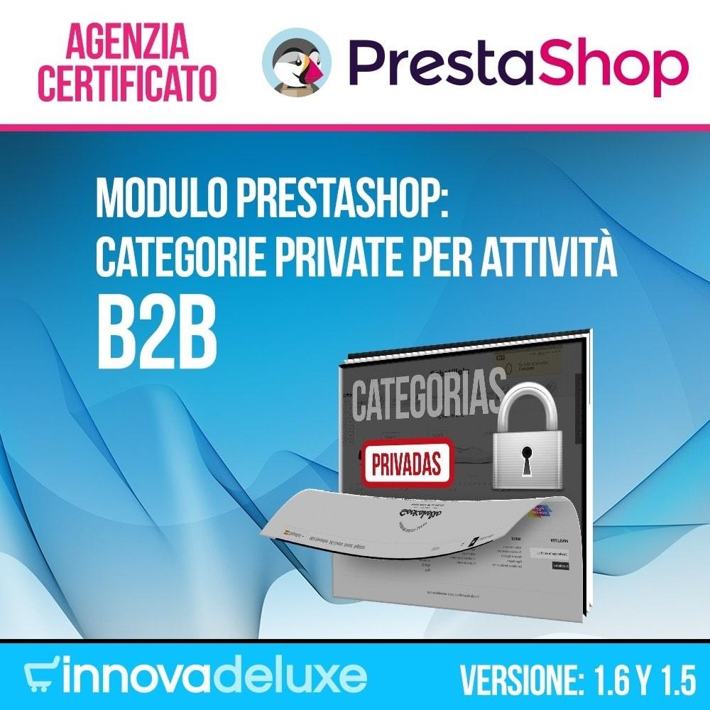 module - B2B - Categorie private per attività B2B - 1