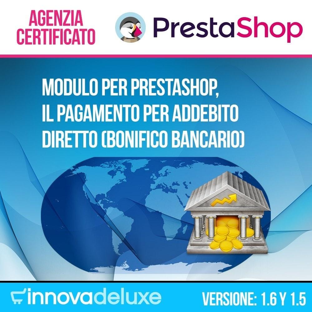 module - Pagamento con Bonifico - Addebito diretto (bonifico bancario) internazionale - 1