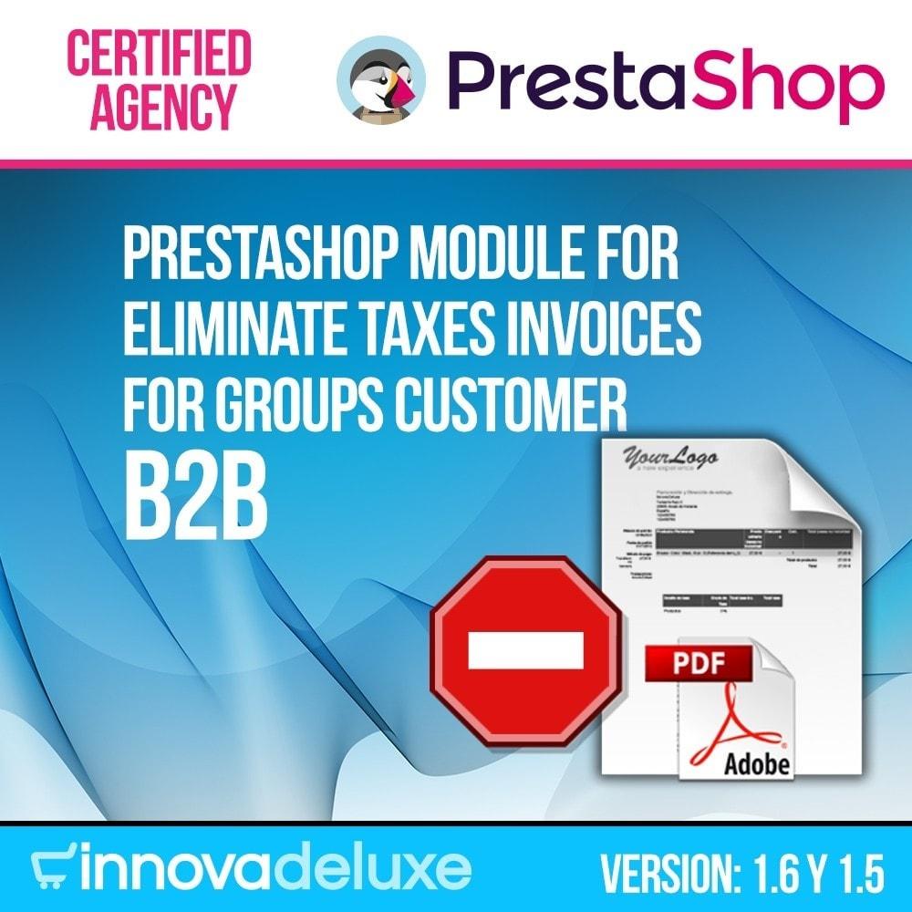 module - B2B - Tax invoice elimination for B2B - 1