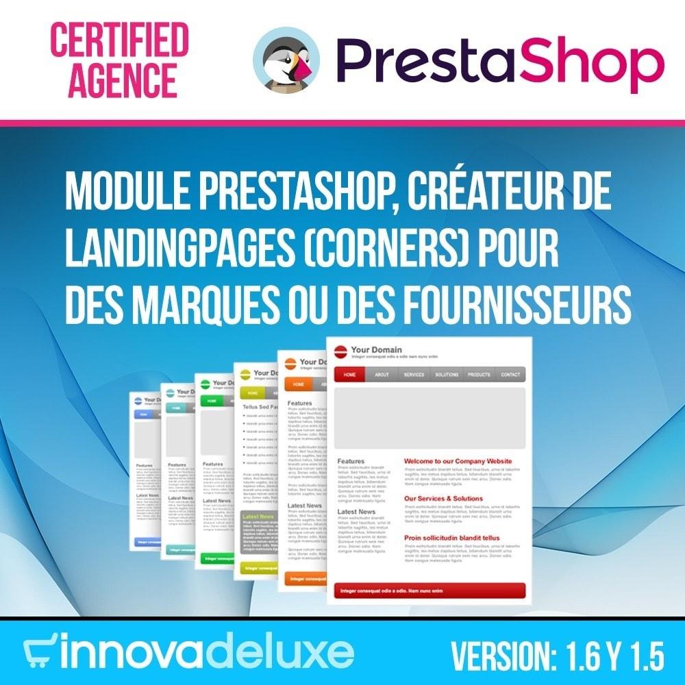 module - SEO (référencement naturel) - Créateur de Landingpages (corners) pour des marques - 1
