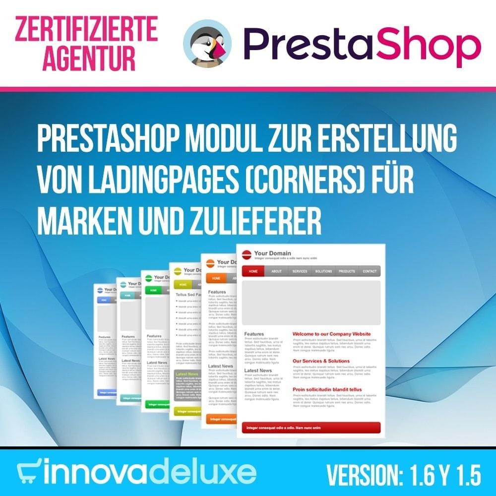 module - SEO - Modul zur Erstellung von Ladingpages-Corners für Marken - 1