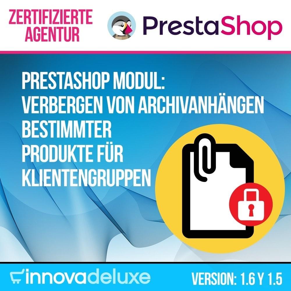 module - Kundenverwaltung - Verbergen Archivanhängen Produkte für Klientengruppen - 1