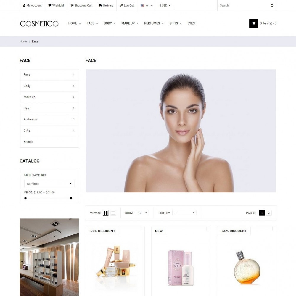 theme - Santé & Beauté - Cosmetico - Cosmétiques Magasin - 2