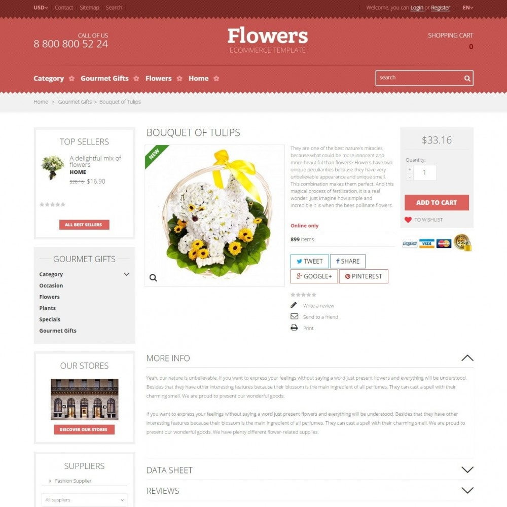 theme - Cadeaux, Fleurs et Fêtes - Floweris - Fleurs Boutique - 4