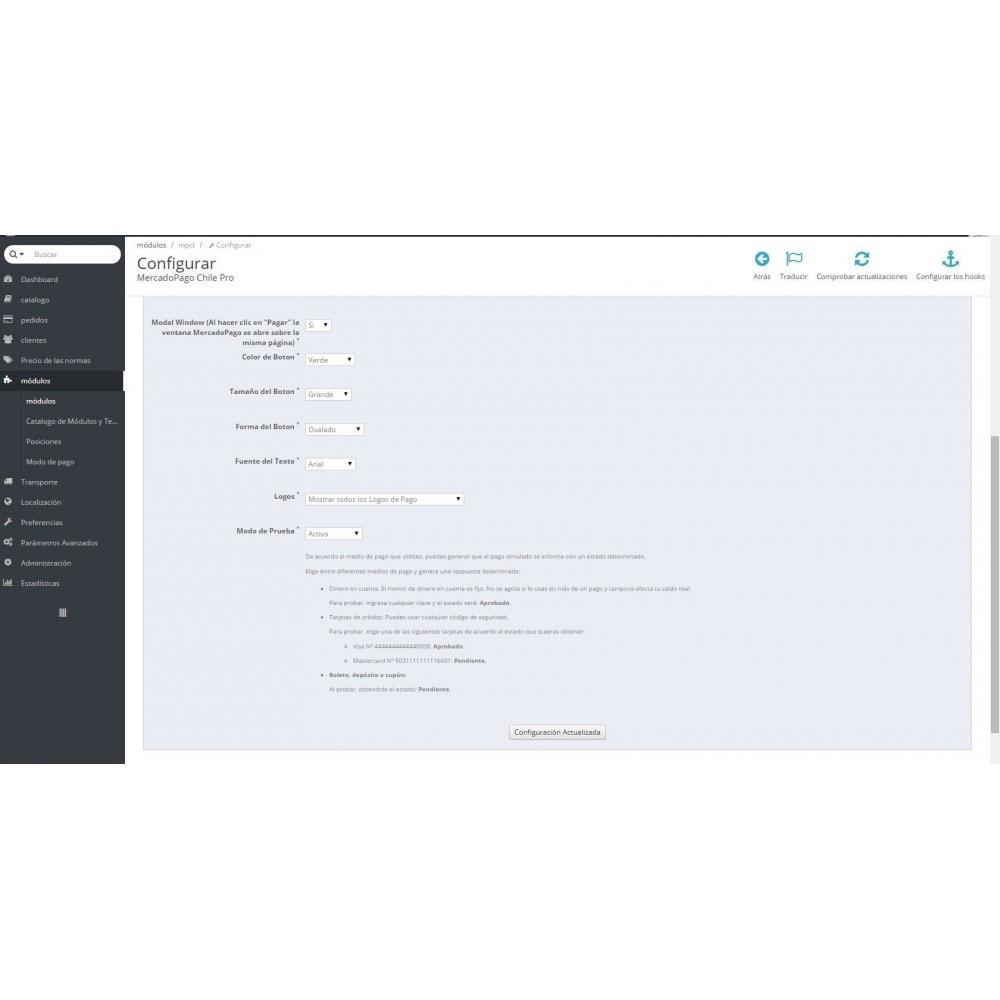 module - Pago con Tarjeta o Carteras digitales - MercadoPago Chile Pro - 3