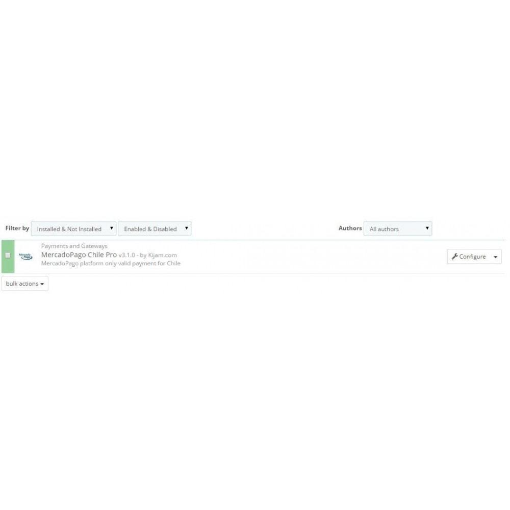 module - Оплата банковской картой или с помощью электронного кошелька - MercadoPago Chile Pro - 1