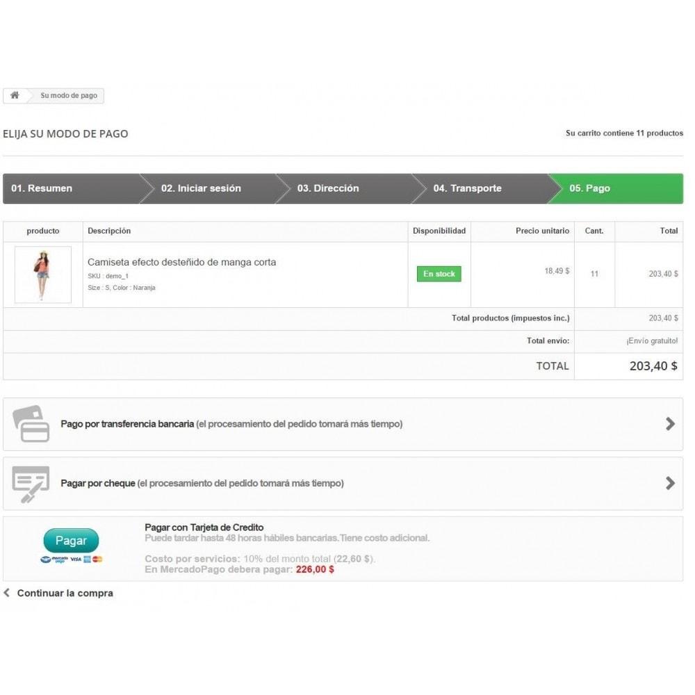 module - Оплата банковской картой или с помощью электронного кошелька - MercadoPago Chile Pro - 4