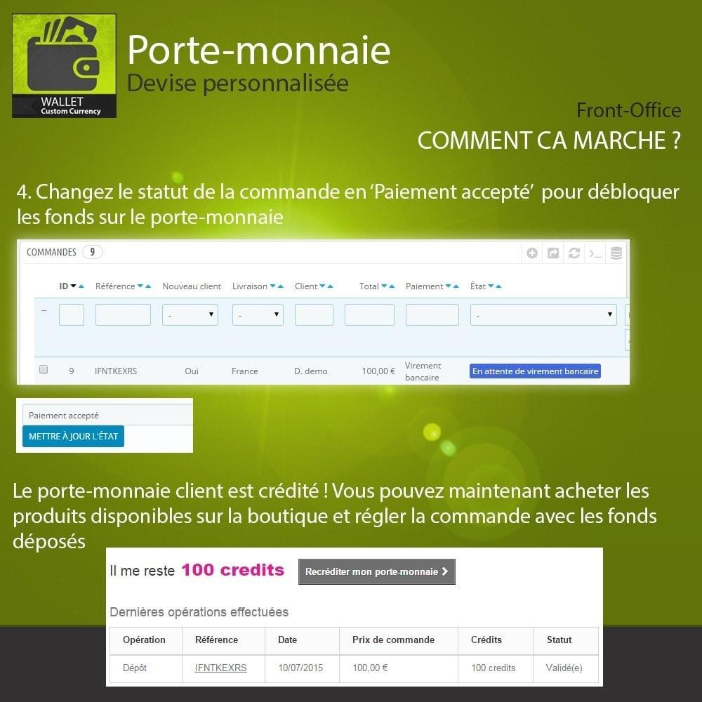 module - Pagamento con Carta di Credito o Wallet - Wallet - Custom currency - 5