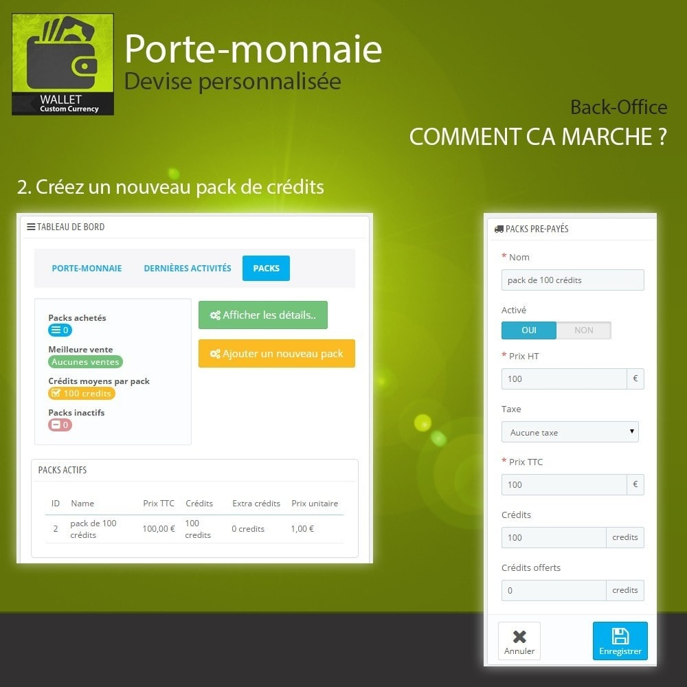 module - Paiement par Carte ou Wallet - Porte-monnaie - Devise personnalisée - 3