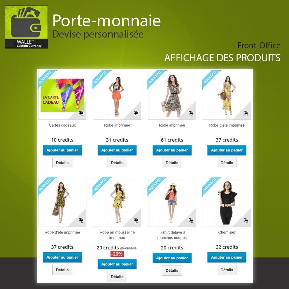 module - Paiement par Carte ou Wallet - Porte-monnaie - Devise personnalisée - 7