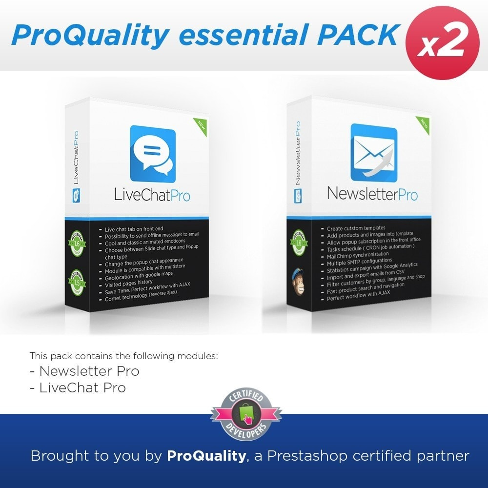 pack - Support & Chat Online - ProQuality essential PACK (x2) - 1