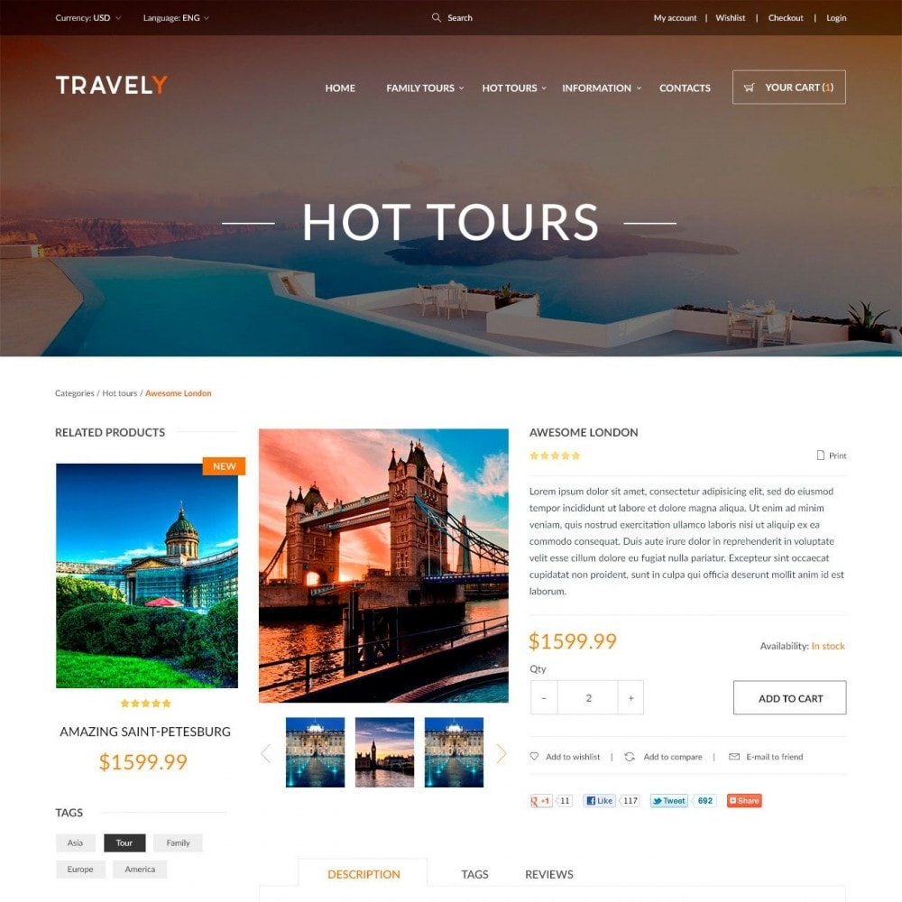 theme - Sports, Activities & Travel - Travely - Travel Shop - 4
