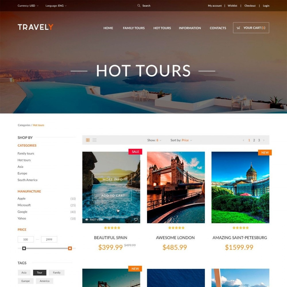 theme - Sport, Aktivitäten & Reise - Travely - Reise Shop - 3