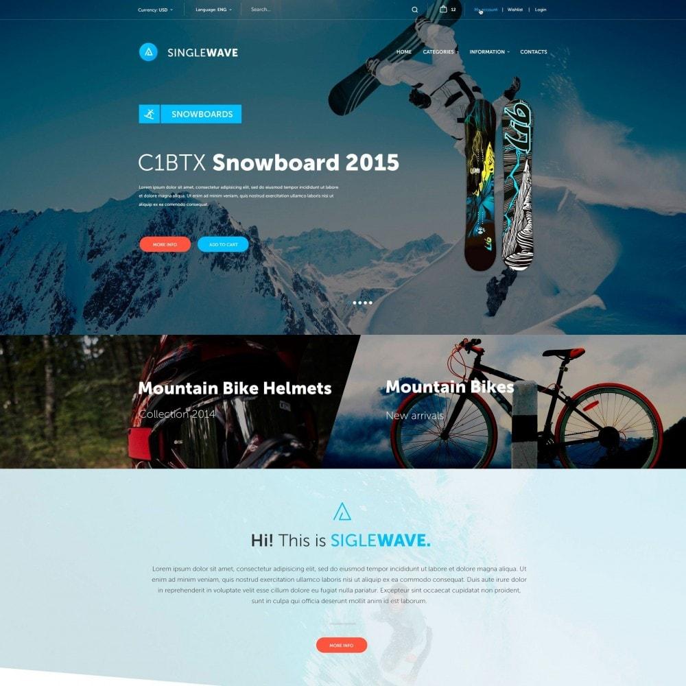 theme - Desporto, Actividades & Viagens - Singlewave - Esporte Loja - 2